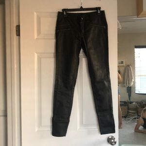 Free people leather skinny jeans
